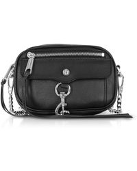 Rebecca Minkoff - Black Pebbled Leather Blythe Xbody Bag - Lyst