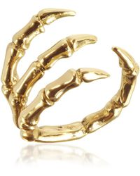 Bernard Delettrez - Golden Brid Claw Bronze Ring - Lyst