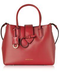dd661d292288 Lyst - Emporio Armani Genuine Leather Satchel Bag
