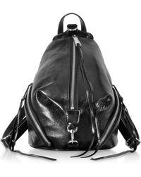 Rebecca Minkoff - Black Nappa Leather Medium Julian Backpack - Lyst
