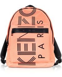 KENZO Sport Logo Print Nylon Backpack - Orange