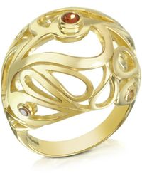 Sho London - Gold Vermeil Mari Splash Boule Ring - Lyst