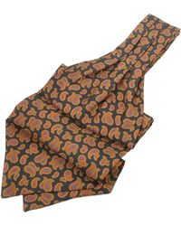 FORZIERI - Large Paisley Print Twill Silk Ascot - Lyst