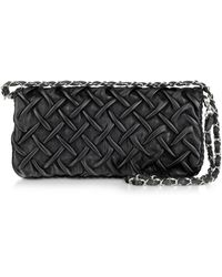 Fontanelli Pleated Na Leather Clutch Lyst