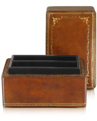 FORZIERI - Genuine Leather Card Box - Lyst