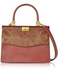 25fb04b283 Rodo - Laser Printed Leather Top Handle Satchel Bag - Lyst