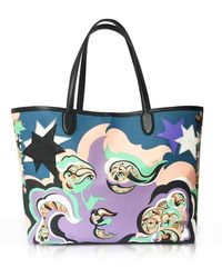 Emilio Pucci - Pink Avio Coated Canvas Tote Bag W/pouch - Lyst