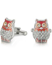 FORZIERI - Fashion Garden - Owl Cufflinks - Lyst