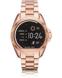 Michael Kors - Rose Gold-tone Stainless Steel Bradshaw Women's Smartwatch - Lyst