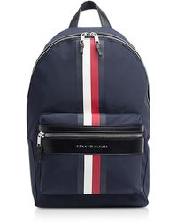 Tommy Hilfiger - Tommy Blue Striped Nylon Elevated Backpack - Lyst