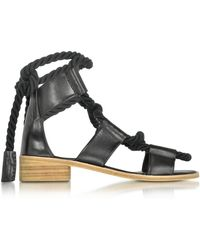 Pierre Hardy - Azur Black Leather Sandal - Lyst