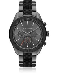 Armani Exchange - Aix Grey Dial And Gunmetal Men's Chronograph Watch - Lyst