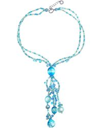 Antica Murrina | Bali Secret Light Blue Murano Glass Pendant Necklace | Lyst