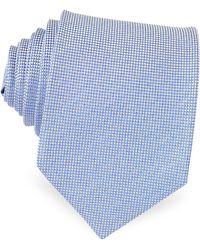 FORZIERI - Light Blue Woven Silk Tie - Lyst