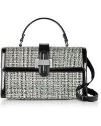 Rodo - Tweed And Patent Leather Top Handle Satchel Bag - Lyst
