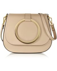 Le Parmentier - Nude Smooth Leather Shoulder Bag - Lyst