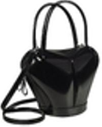 Fontanelli - Dramatic Black Italian Leather Handbag - Lyst