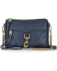 Rebecca Minkoff - True Navy Leather Mini M.a.c. Crossbody Bag - Lyst