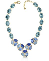 FORZIERI - Blue Crystal Necklace - Lyst