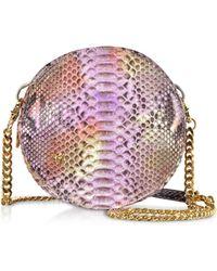 Ghibli - Lilac Python Round Crossbody Bag - Lyst