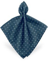 Forzieri | Polkadot Twill Silk Pocket Square | Lyst