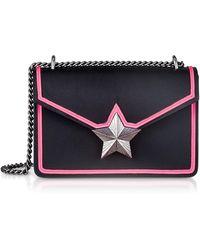 0d40016d3593 Les Jeunes Etoiles - Black   Neon Pink Leather New Vega Trim Shoulder Bag -  Lyst