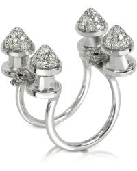Bernard Delettrez - Four Studs With Diamonds Ring - Lyst