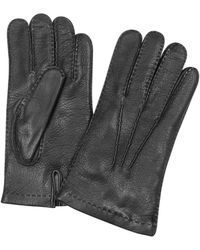 FORZIERI - Herrenhandschuhe aus italienischem Leder und Kaschmir in schwarz - Lyst