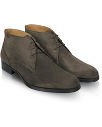 Moreschi   Stiria - Gray Suede Ankle Boots   Lyst
