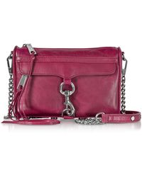 Rebecca Minkoff - Mini M.a.c. Beet Distressed Leather Crossbody Bag - Lyst