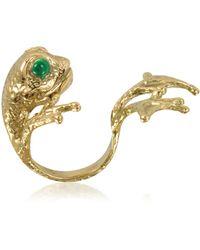 Bernard Delettrez - Bronze Frog Ring W/big Paws - Lyst