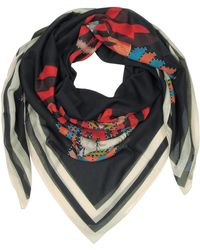 06c1a8aeb88 Lyst - Givenchy Rottweiler Print and Signature Silk Square Scarf in Blue