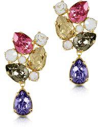 FORZIERI - Multicolor Crystal Earrings - Lyst