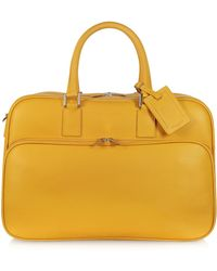 Giorgio Fedon - Travel Yellow Leather Double Handle Carry-on - Lyst