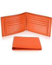 Giorgio Fedon - Classica - Men's Orange Calfskin Billfold Wallet - Lyst