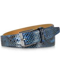 FORZIERI - Blue Python Leather Men's Belt - Lyst