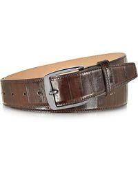 FORZIERI - Brown Eel Leather Men's Belt - Lyst