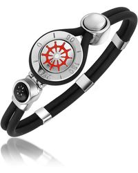 FORZIERI - Rudder & Compass Stainless Steel And Rubber Bracelet - Lyst