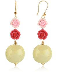 House of Murano - Rose Murano Glass Drop Earrings - Lyst