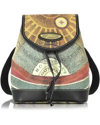 Gattinoni - Planetarium Coated Canvas And Leather Small Backpack - Lyst