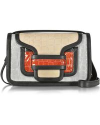 Pierre Hardy - Alpha Multicolour Croco Embossed Patent Leather Crossbody Clutch - Lyst