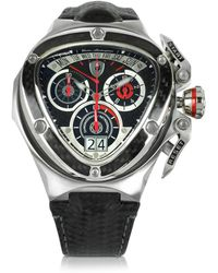 Tonino Lamborghini - Red And Silver Stainless Steel Spyder Chronograph Watch - Lyst