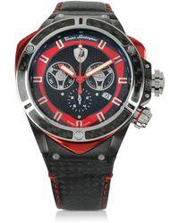 Tonino Lamborghini - Black Stainless Steel And Carbon Fiber Spyder Chronograph Watch - Lyst