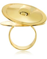 MM6 by Maison Martin Margiela - Gold Tone Metal Ring - Lyst
