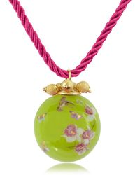 Naoto - Alchimia - Round Gold Foil Pendant With Lace - Lyst