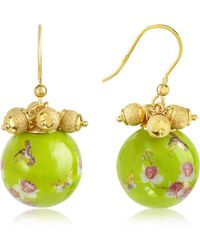 Naoto - Alchimia - Round Gold Foil Drop Earrings - Lyst