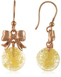 Naoto - Yellow Round Drop Earrings - Lyst