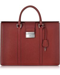 Pineider - City Chic Embossed Leather Briefcase - Lyst