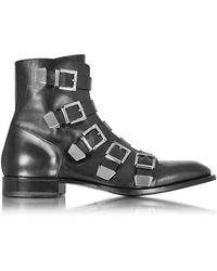 Cesare Paciotti - Men's Black Leather Ankle Boots - Lyst