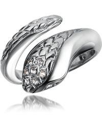 Just Cavalli - Secret - Crystal Diamondback Snake Ring - Lyst